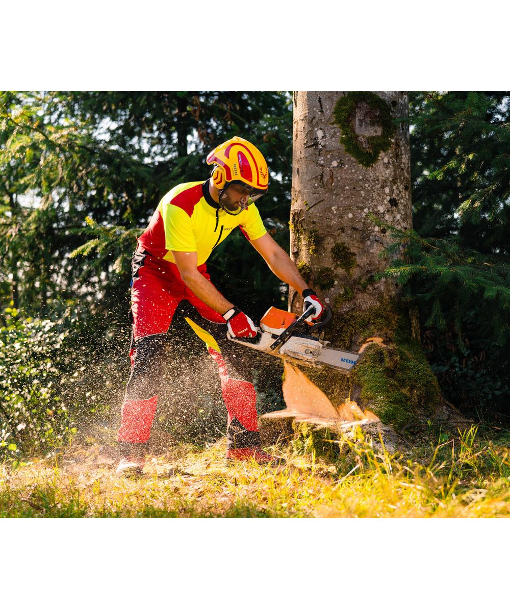 KOX Light snijbeschermingsbroek, rood/geel, XX71225