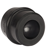 Halder vervangende rubber dop, zwart Bild 3